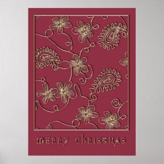 Ruby Gold Christmas Print