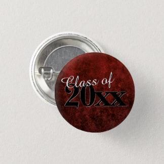 Ruby Grad | Red Garnet Crimson Scarlet Party Theme Pinback Button