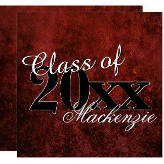Ruby Graduation Garnet Crimson Red Grad Year Party Card