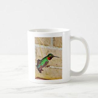 Ruby Green hummingbird Classic White Coffee Mug