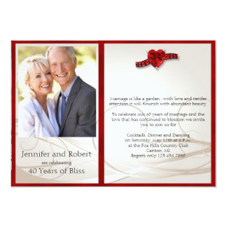 Find Customisable Ruby Wedding Anniversary Invitations U0026 Announcements Of  All Sizes. Pick Your Favourite Invitation