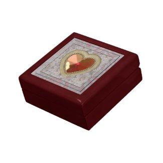 Ruby Heart Giftbox Trinket Box