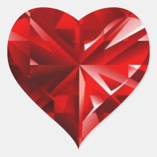 Ruby Heart Heart Sticker