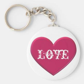 Ruby Heart Love Keychain