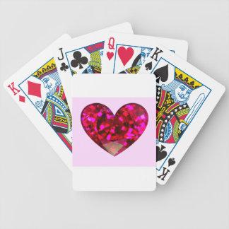 Ruby Heart Poker Deck