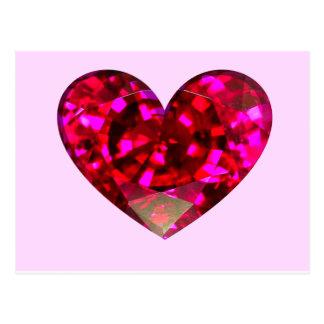 Ruby Heart Postcard