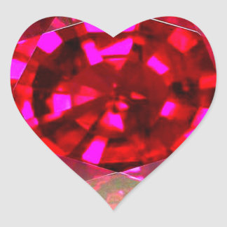 Ruby Heart Sticker