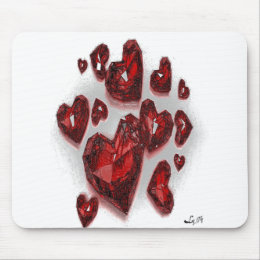 RUBY HEARTS BY LIZ LOZ MOUSE PAD
