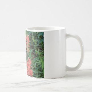 Ruby in Red Flowers Hummingbird Classic White Coffee Mug