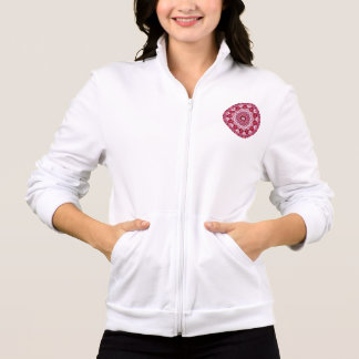 Ruby Jewels Mandala, Abstract Rose Lace Jacket