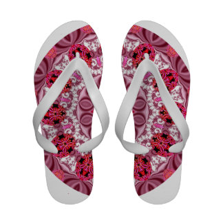 Ruby Jewels Mandala, Abstract Rose Lace Sandals