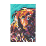 Ruby King Charles Cavalier Canvas Wrapped Pop Art Canvas Print