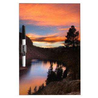 Ruby Lake Sunset - John Muir Trail - Sierra Nevada Dry Erase Board