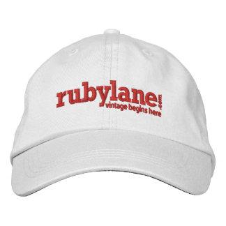 Ruby Lane Adjustable Hat Embroidered Hat