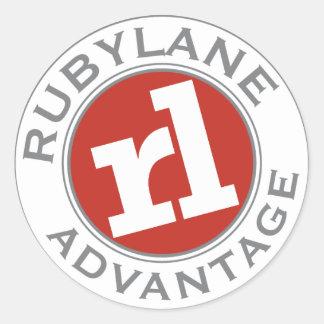 Ruby Lane Advantage - Classic Round Sticker