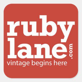 Ruby Lane Color Block Sticker