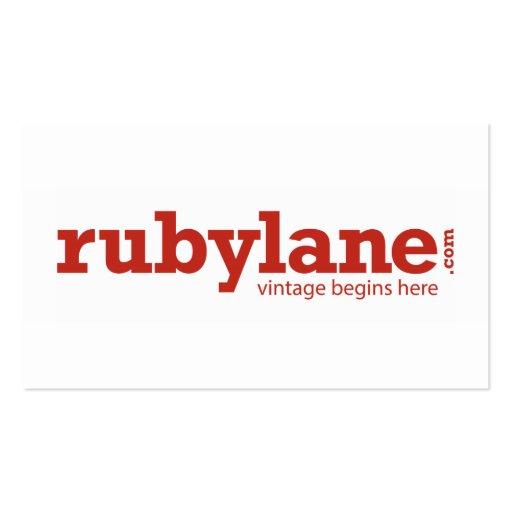 Ruby Lane Custom Business Card