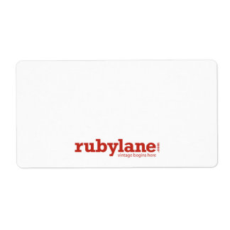 Ruby Lane Large Shipping Labels W/ Logo  Large Mailing Labels