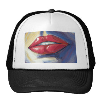 Ruby Lips Pouting Vector Artwork Trucker Hat