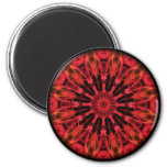 Ruby Love kaleidoscope 2 Inch Round Magnet