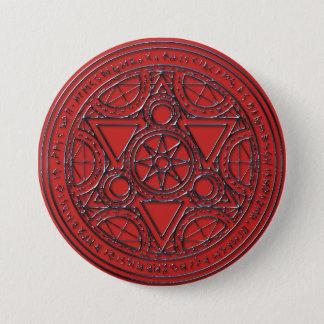 Ruby Magical Runic Circle Button