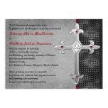 Ruby Medieval Celtic Cross Wedding Invitation