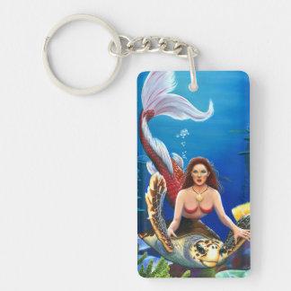 Ruby Mermaid key chain