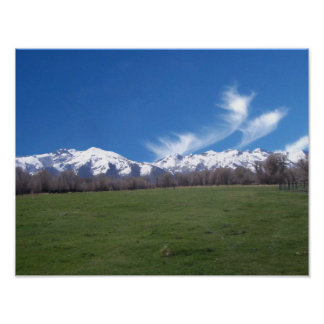 Ruby Mountains In April Poster