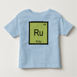 Ruby Name Chemistry Element Periodic Table Shirt