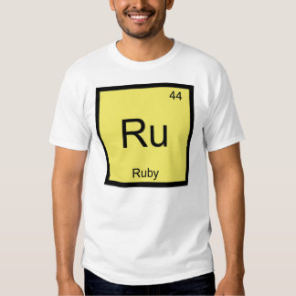 Ruby Name Chemistry Element Periodic Table T Shirt