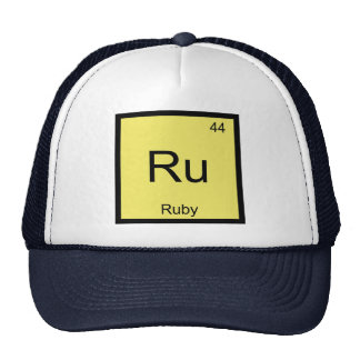 Ruby Name Chemistry Element Periodic Table Trucker Hat