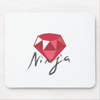 Ruby Ninja Gemstone Geek Mouse Pad