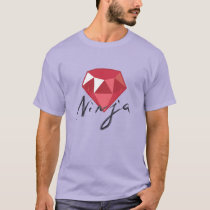 Ruby Ninja Gemstone Geek Shirt