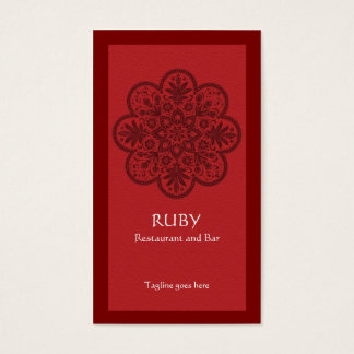 Ruby Ornament Business Card