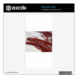 Ruby Pillars Skins For iPhone 4S
