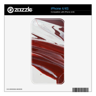Ruby Pillars Skins For The iPhone 4