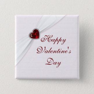 Ruby Pink Valentine's Day Button