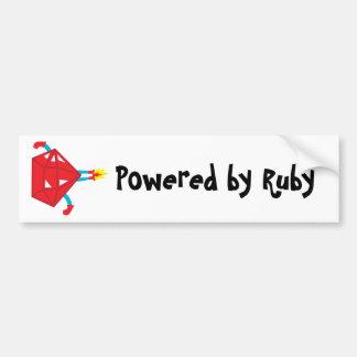 Ruby power car bumper sticker