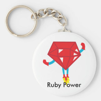Ruby power keychain