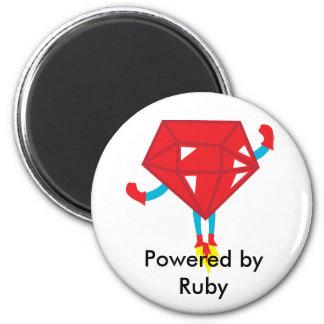 Ruby power 2 inch round magnet