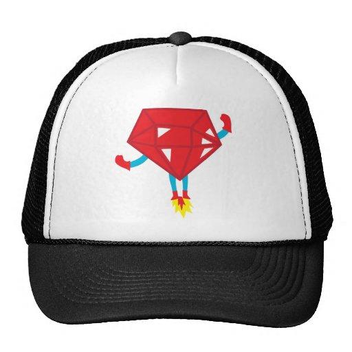 Ruby power mesh hats