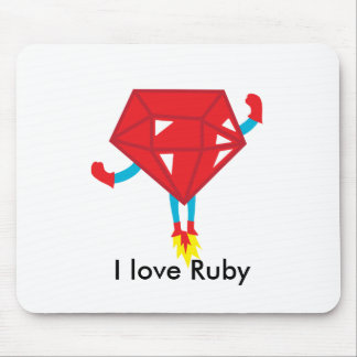 Ruby power mouse pad