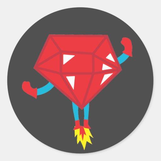 Ruby power round sticker