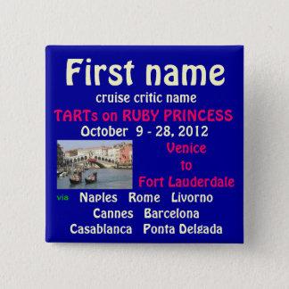 Ruby Princess TA Name Tag Pinback Button