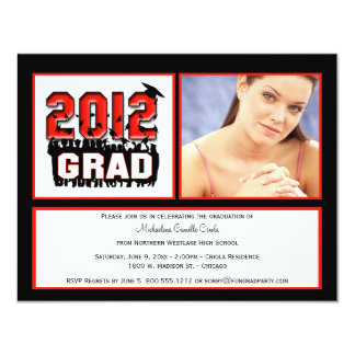 Ruby Red 2012 Graduation Party Photo Invitation