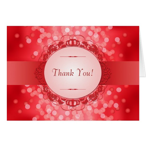 Ruby Red 40th Anniversary Thank You Card
