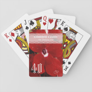 Ruby Red 40th wedding Anniversary Playing Cards