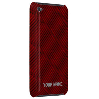 Ruby Red and Black Pattern Barely There iPod Covers