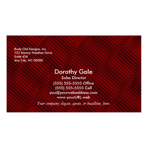 Ruby Red and Black Pattern Business Card