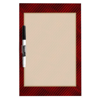 Ruby Red and Black Pattern Dry Erase Board